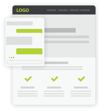 Image of a blank website showing how Roadside Multimedia will help you Design and Create your new website
