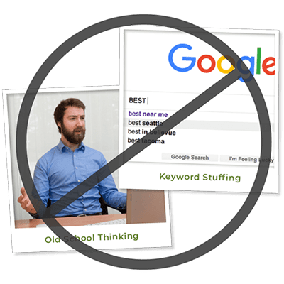 Image of outdated SEO practices